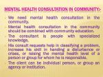 mental health consultation in community
