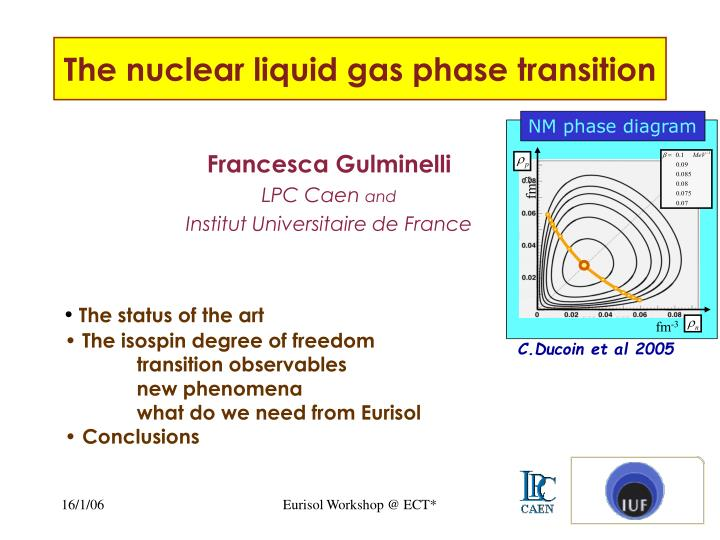 the nuclear liquid gas phase transition n.