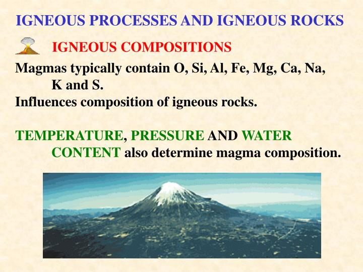IGNEOUS COMPOSITIONS