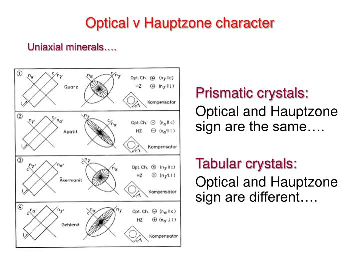 Optical v Hauptzone character