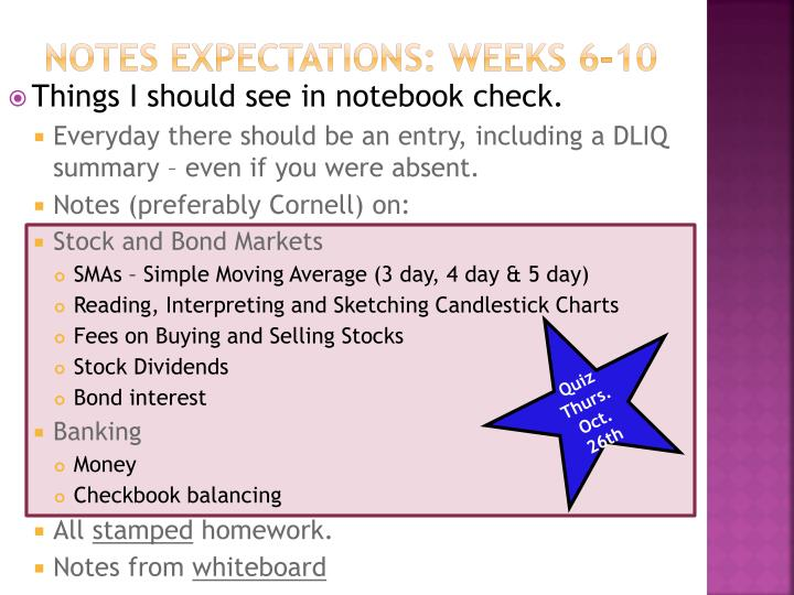 notes expectations weeks 6 10 n.