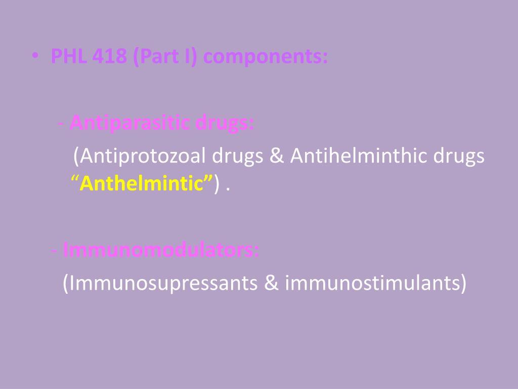 Antiprotozoal and anthelmintic, Papillomaviridae veterinaria