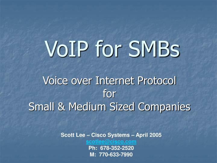 voip for smbs n.