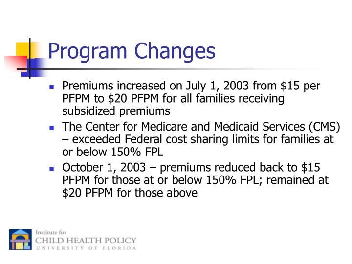 Program Changes