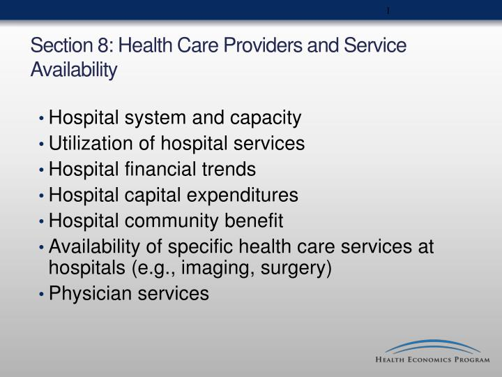 section 8 health care providers and service availability n.