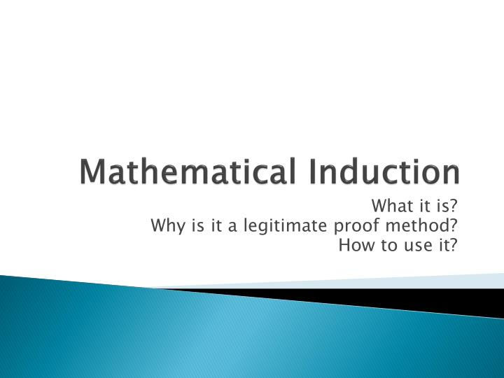mathematical induction n.