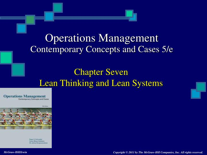 chapter seven lean thinking and lean systems n.