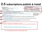 2 5 subscriptions publish install