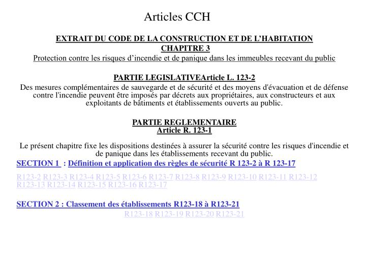 articles cch n.