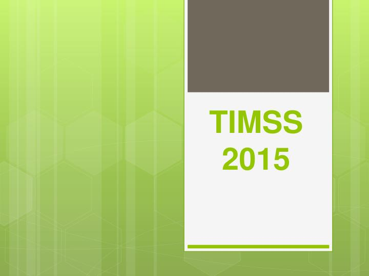 timss 2015 n.