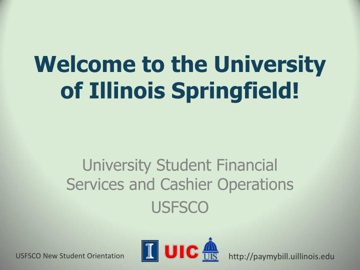 welcome to the university of illinois springfield n.