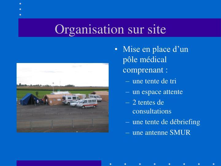 Organisation sur site