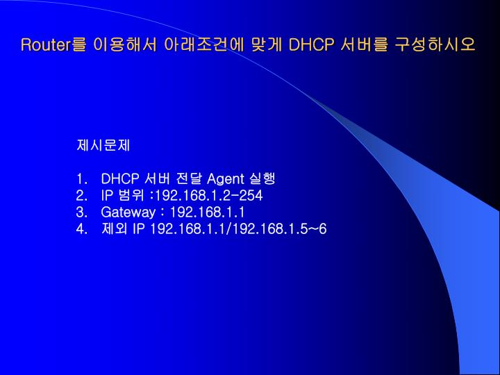 router dhcp n.
