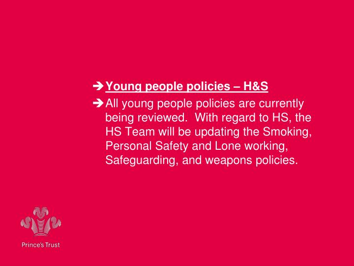 Young people policies – H&S