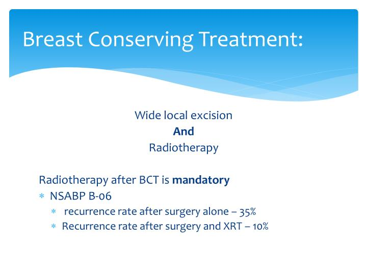 Breast Conserving Treatment: