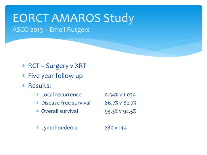EORCT AMAROS Study