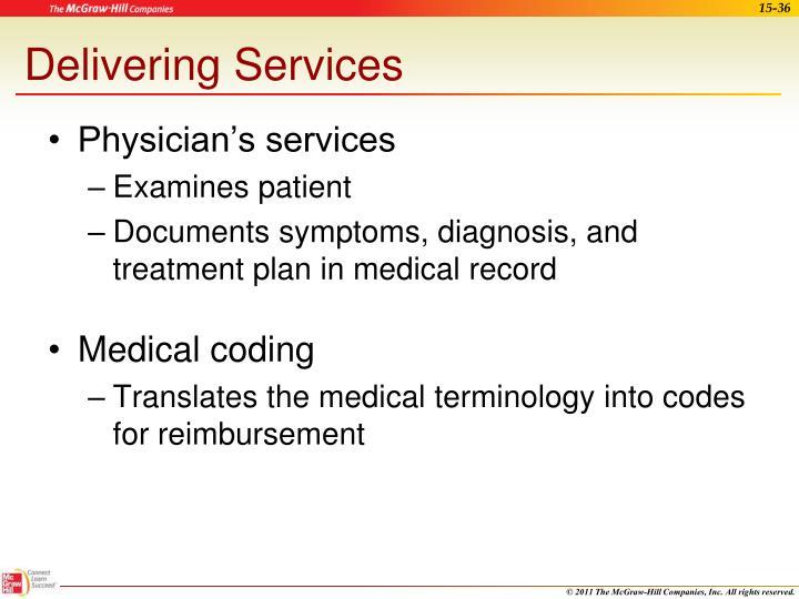 Delivering Services