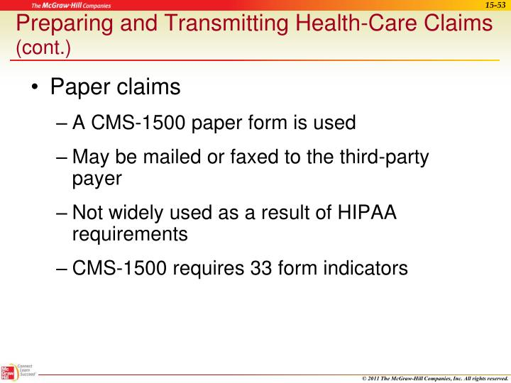Preparing and Transmitting Health-Care Claims