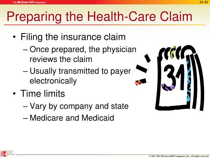 Preparing the Health-Care Claim