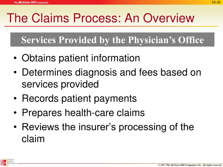 The Claims Process: An Overview
