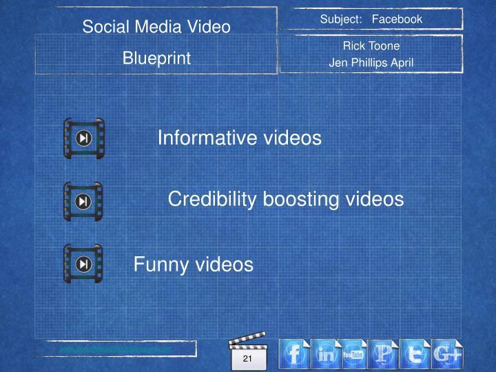 Credibility boosting videos