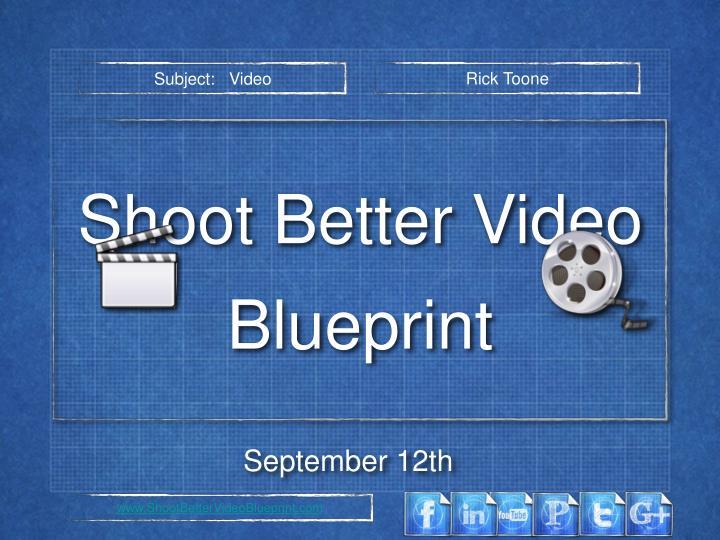 Subject:   Video