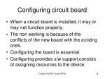 configuring circuit board