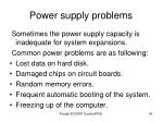 power supply problems