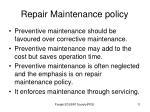 repair maintenance policy1