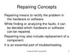 repairing concepts