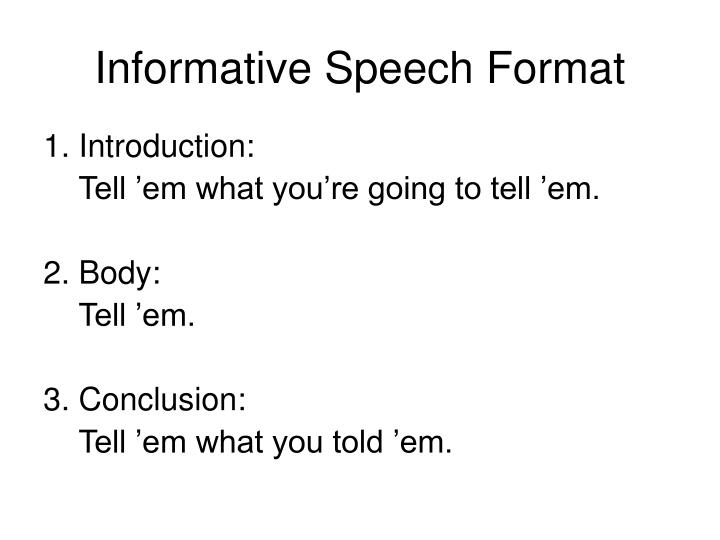 informative speech introduction