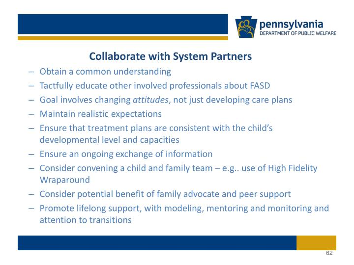 Collaborate with System Partners