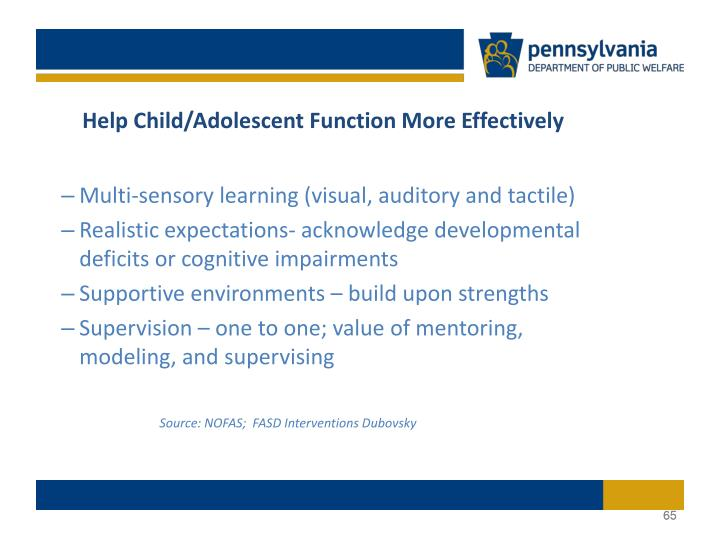 Help Child/Adolescent Function More Effectively