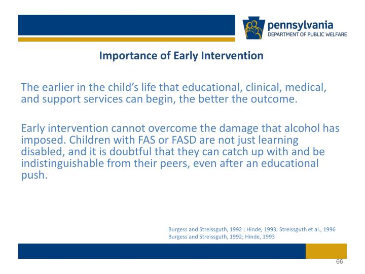 Importance of Early Intervention