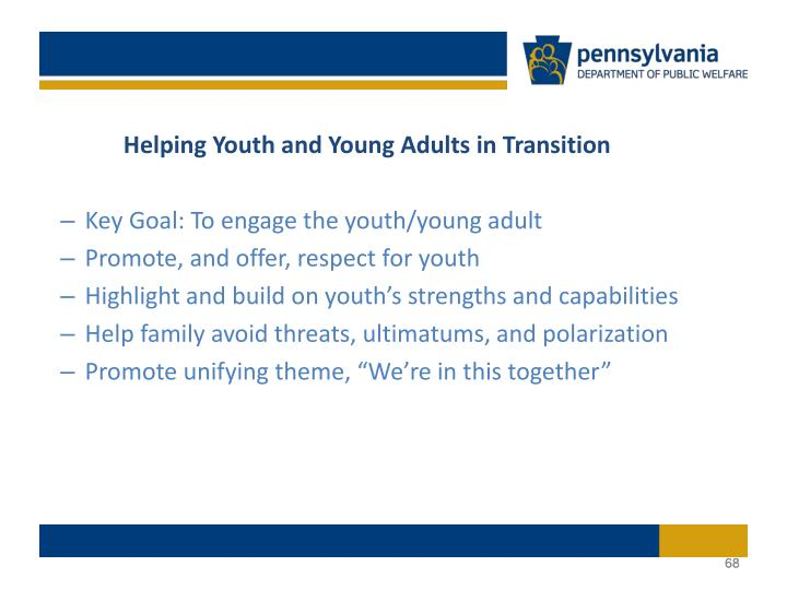 Helping Youth and Young Adults in Transition
