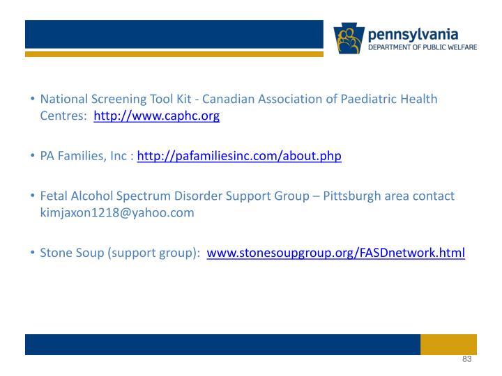 National Screening Tool Kit - Canadian Association of