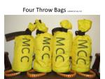 four throw bags added 22 july 14