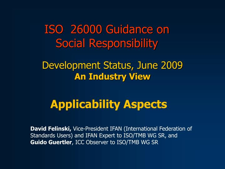 iso 26000 guidance on social responsibility n.
