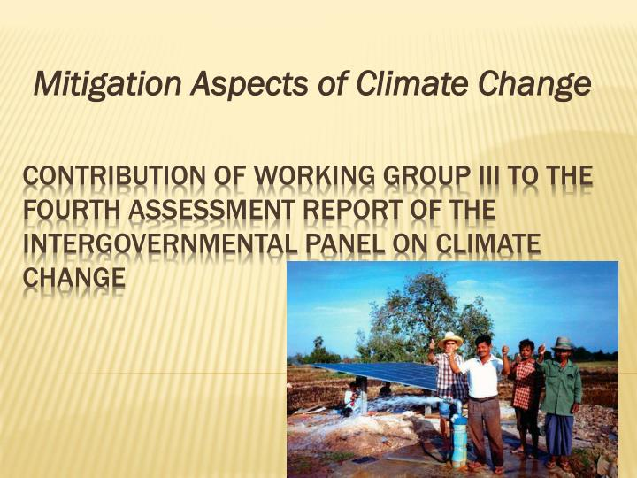 mitigation aspects of climate change n.