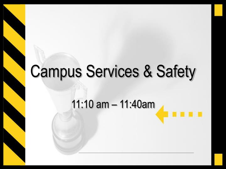 campus services safety n.