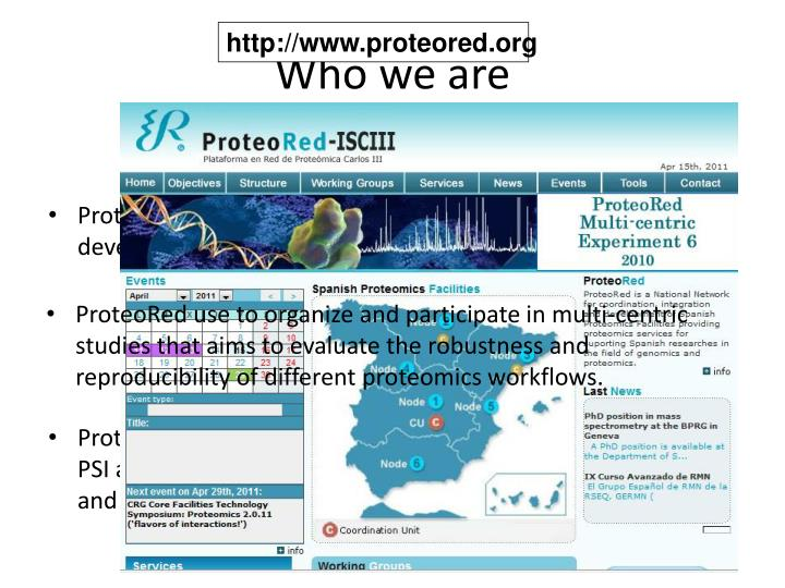 http://www.proteored.org