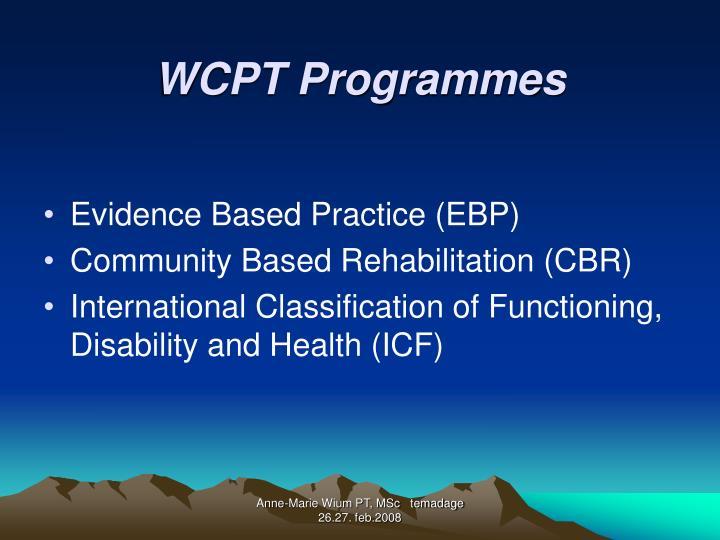 WCPT Programmes