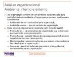 an lise organizacional ambiente interno e externo