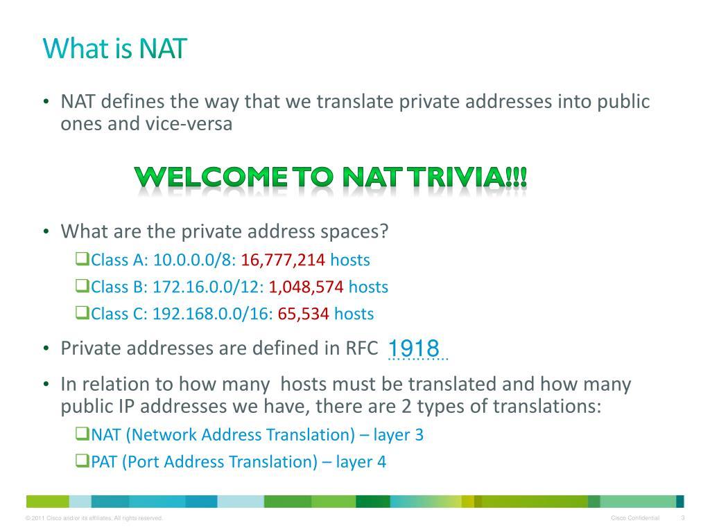PPT - ASA Essentials Part 2 NAT, Advanced Firewall, VPN
