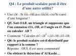 q4 le produit scalaire peut il tre d une autre utilit