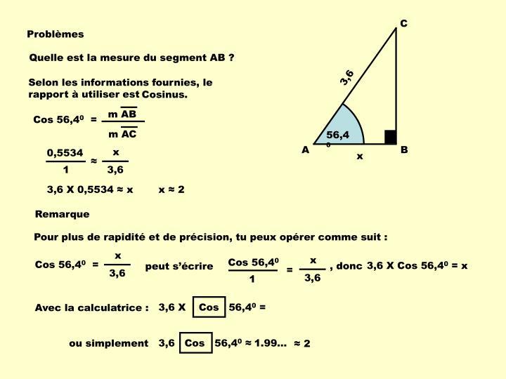 Quelle est la mesure du segment AB ?