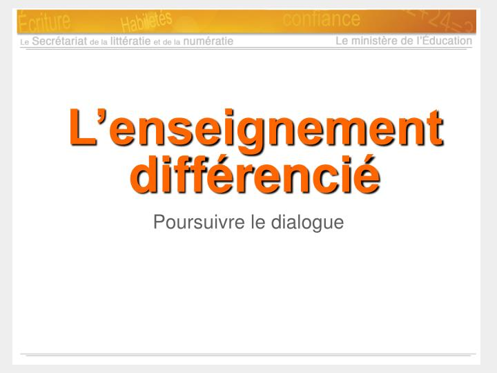 l enseignement diff renci n.