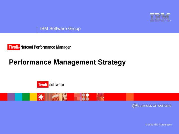 performance management strategy n.