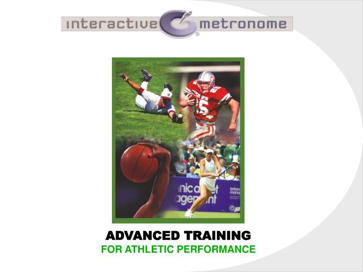 advanced training for athletic performance n.