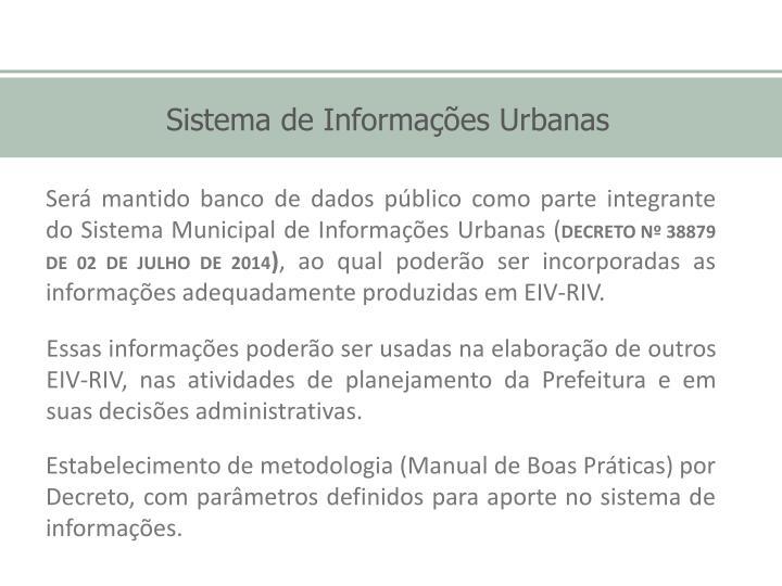 Sistema de Informações Urbanas